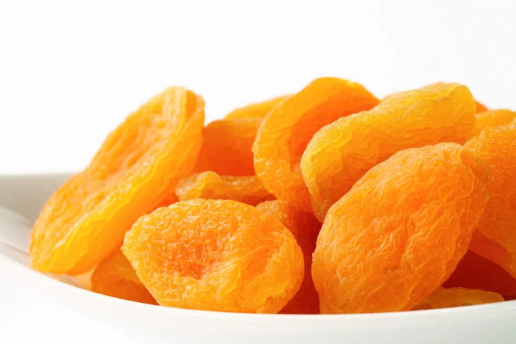 Billede af tørrede abrikoser.