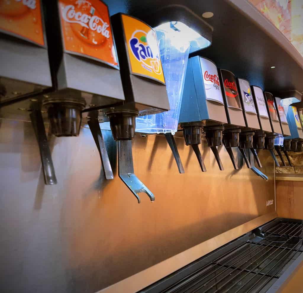 Billede af en sodavandsautomat